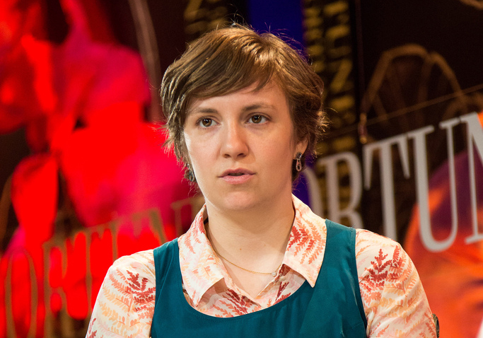 Lena Dunham - Midget ignorer. (Photo: Fortune Live Media)